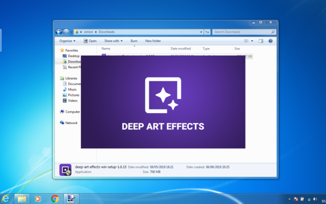 Double click the new Deep Art Effects icon on your desktop